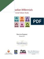 Canadian millennial Social Values Study - Executive Summary English