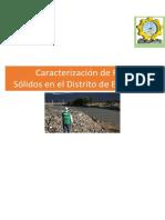 Caracterización de Residuos Sólidos en El Distrito de El Tambo