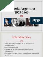 Historia Argentina 1955-1966