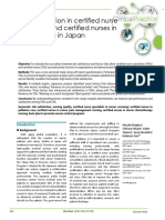 Job Satisfaction in Certified Nurse Specialists and Certified Nurses in Cancer Care in Japan