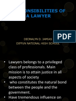 Responsibilities of a Lawyer