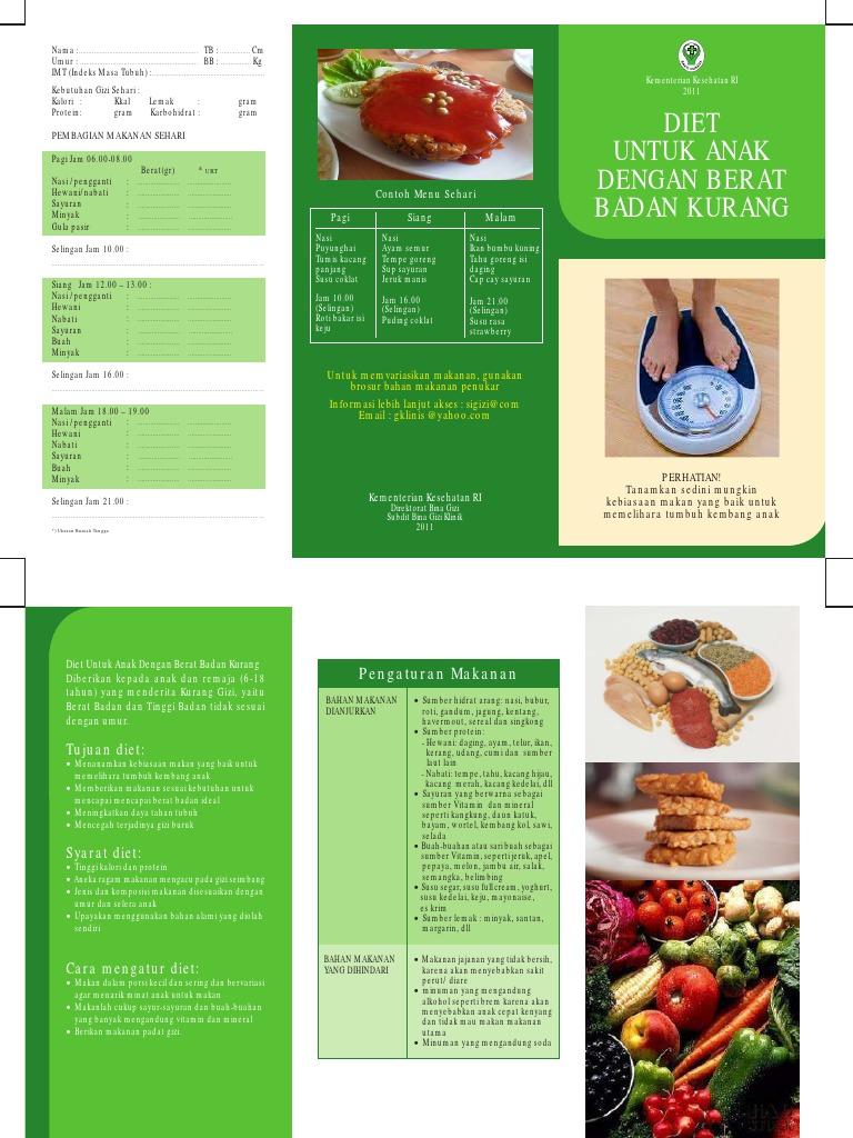 Brosur Diet Untuk Anak Dengan Berat Badan Kurang 1 Pdf