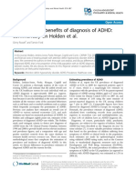 The Costs and Benefits of Diagnosis of ADHD