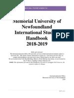 Memorial University handbook