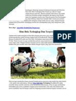 Situs Bola Terlengkap Dan Terpercaya | Goodlucky99