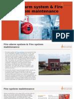 Fire Alarm System & Fire System Maintenance