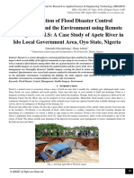 An Evaluation of Flood Disaster Control Management and the Environment using Remote Sensing and G.I.S