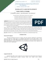 Augmented Reality Game Development Using Unity & Vuforia-ijaerdv05i0359309