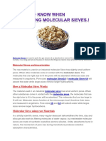 Things to Know When Purchasing Molecular Sieve