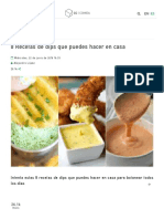 8 Recetas de dips que puedes hacer en casa - Comida.pdf