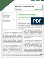 Colonization patterns of benthic macroinvertebrates in fertilized and non-fertilized earthen fish ponds