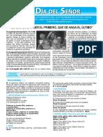 Hoja Dominical Del Domingo 9 de Setiembre
