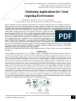 Platforms for Deploying Applications for Cloud Computing Environment