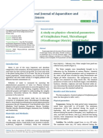 A study on physico-chemical parameters of Urinjikulam Pond, Thiruthangal (Virudhunagar District, Tamil Nadu)