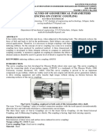 DESIGN AND ANALYSIS OF GEOMETRICAL PARAMETERS INFLUENCING ON CURVIC COUPLING