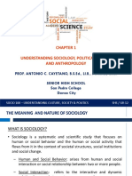 Ch 1_Understanding Sociology, Political Science and Anthropology