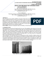 HIGH RISE BUILDINGS AND THE ROLE OF CONSTRUCTION MANAGEMENT