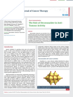 The Role of Decavanadate in Anti- Tumour Activity
