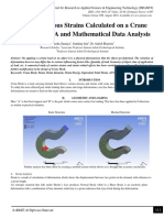 Study of Various Strains Calculated on a Crane Hook using FEA and Mathematical Data Analysis