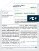 Study on improvement of manpower performance & safety in construction firms