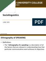 LING303 Ethnography