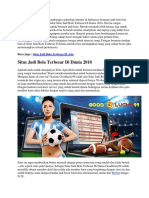 Situs Judi Bola Terbesar Di Dunia 2018 | Goodlucky99
