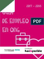 Guia de Empleo en ONG Hacesfalta 2017 Fundacion Hazloposible