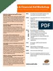 Scholarship & Financial Aid Workshop Flyer
