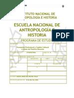 Formación Profesional y Cambio Cultural Progrma ENAH 08