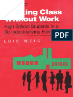 Working Class Without Work High School Students in a de Industrializing Economy