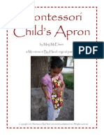 Montessori Childs Apron