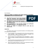 Circular on Display of Pto and Technical Requirements for Lifts and Escalators 20170608