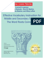 Effective Vocabulary Instruction for Middle and Secondary Students_The Word Roots Connection