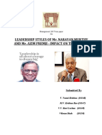 Personalities of Ajim Premji and Narayana Murthy