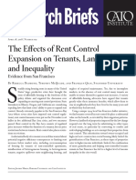 The Effects of Rent Control Expansion on Tenants, Landlords, and Inequality