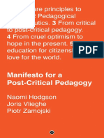 Manifesto for a Post-Critical Pedagogy A