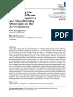 Interrupting the Anthropo-obScene- Immuno-biopolitics and Depoliticizing Ontologies in the Anthropocene Erik Swyngedouw