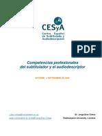 Competencias Profesionales Del Subtitulador y Del Diaz Cintas