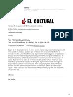 Fernando Aramburu Historia de Un Poema El Cultural 13 05 2011