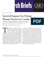 Societal Support for Paying Plasma Donors in Canada