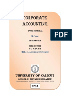 Corporate Accountings Bcom Third Semester