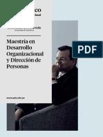 Maestría en Desarrollo Organizacional y Dirección de personas
