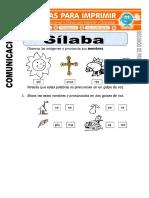 Ficha de Silaba Para Segundo de Primaria