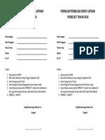 Formulir Pembelian Jersey Latihan Porselect Tahun 2018