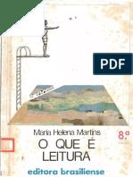 Maria Helena Martins Tommasi - O que é Leitura (1997, Brasiliense).pdf