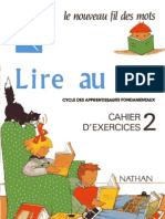 Lire Au CP Cahier d'Exercices 2 Nathan
