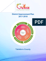 Taliaferro District Improvement Plan FY19 Amendment