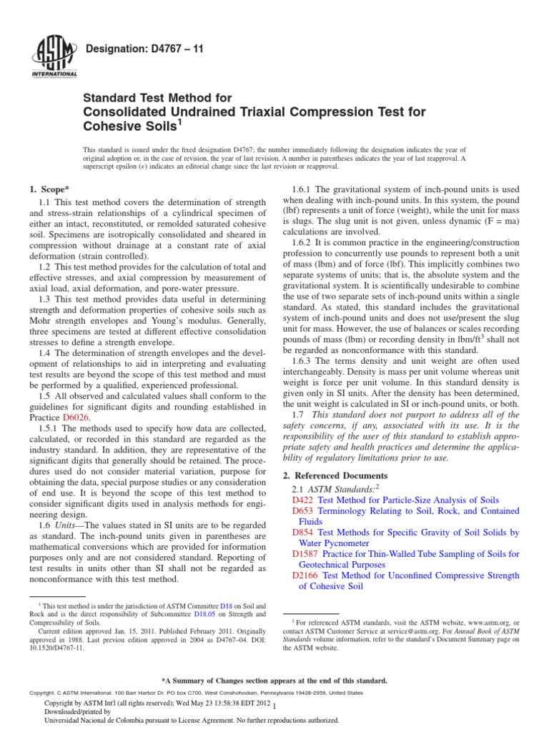 ASTM D4767 PDF