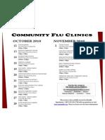 Community Flu Clinics 2010