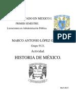 Un2.Tem1.Act1.Marco Lopez. Historia de México